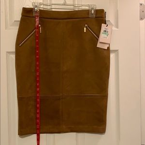 Ivanka faux suede skirt size 8.